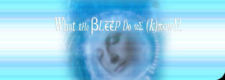 Man sieht einen Blauen DVD Titel mit einer Frau darauf aus dem Film What the bleep do we (k)now!? jetzt online