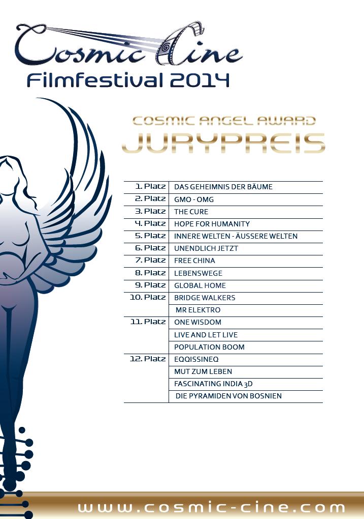 cosmic cine platzierungen jury 2014
