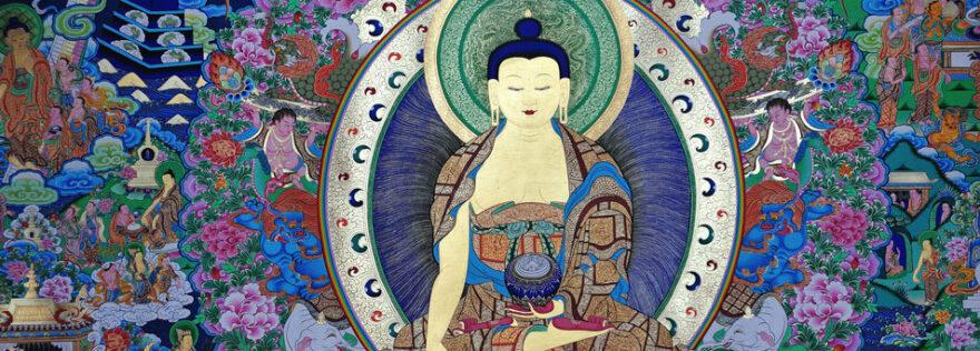 Man sieht eine Buddhastatue zum Film Dalai Lama Renaissance